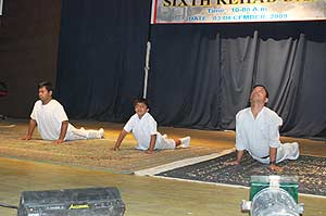 Vydehi Students yoga Performance