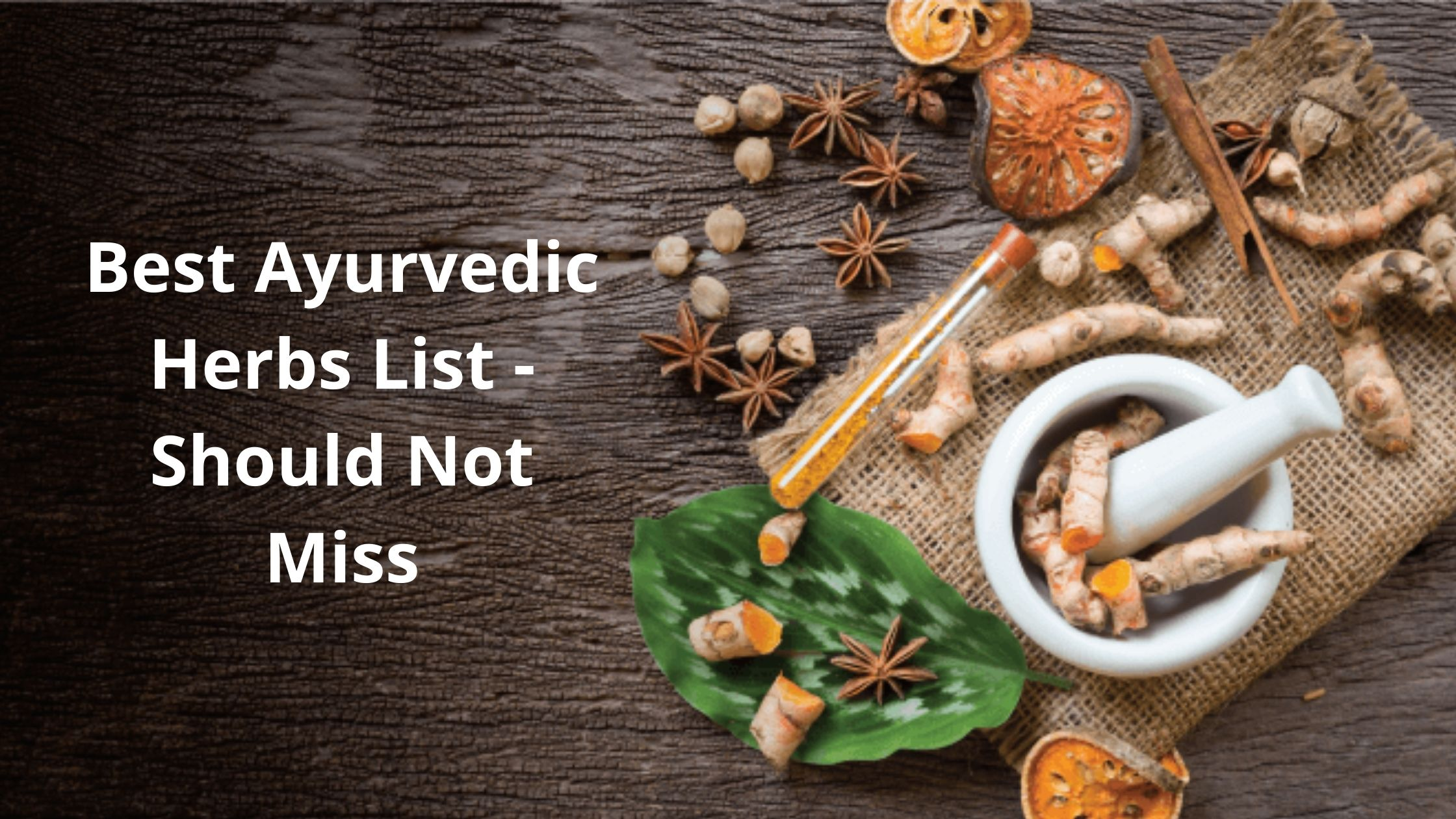 Best Indian Ayurvedic Herbs With Their Health Benefits